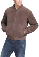 Load image into Gallery viewer, BGSD Men's Urban Varsity Baseball Leather Bomber Jacket - Tall