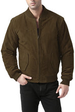 Load image into Gallery viewer, BGSD Men's Urban Varsity Baseball Leather Bomber Jacket
