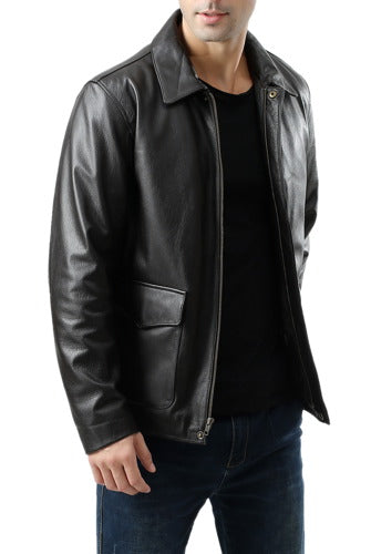 Landing Leathers Men's Voyager Indy-Style Goatskin Leather Adventurer Jacket