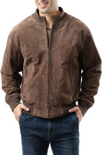 Load image into Gallery viewer, Landing Leathers Men's WWII Suede Leather Tanker Jacket - Big