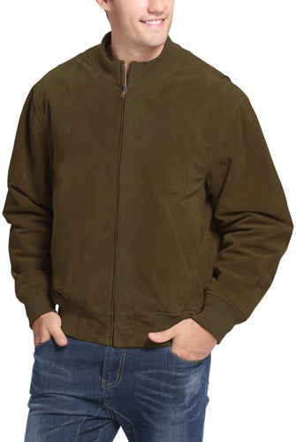 Landing Leathers Men's WWII Suede Leather Tanker Jacket - Big