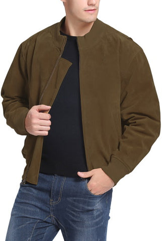 Landing Leathers Men's WWII Suede Leather Tanker Jacket