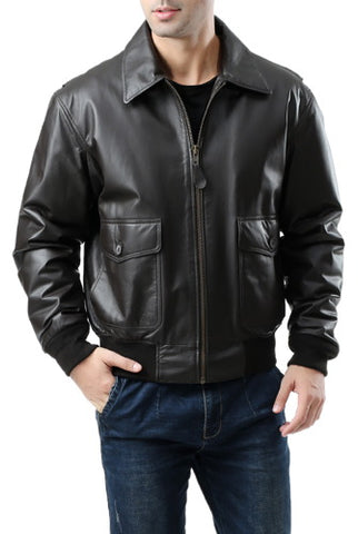 Landing Leathers Men's G2 Leather Flight Bomber Jacket (G-2)