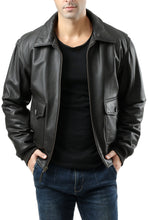Load image into Gallery viewer, Landing Leathers Men's G2 Goatskin Leather Flight Bomber Jacket (G-2)
