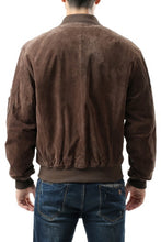 Load image into Gallery viewer, Landing Leathers Men's MA1 Suede Leather Flight Bomber Jacket - Big