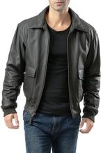 Load image into Gallery viewer, Landing Leathers Men's Premium Air Force G-2 Leather Flight Bomber Jacket - Tall
