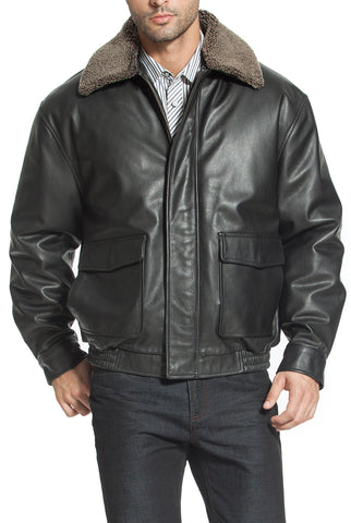 Landing Leathers Men's Heavy Duty Cowhide Leather Aviator Flight Bomber Jacket