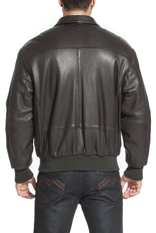 Landing Leathers Air Force Men's A2 Goatskin Leather Flight Bomber Jacket (A-2) - Tall