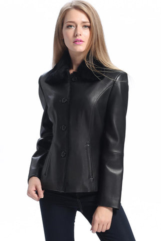 "BGSD Women's ""Kare"" New Zealand Lambskin Leather Jacket - Plus Short"