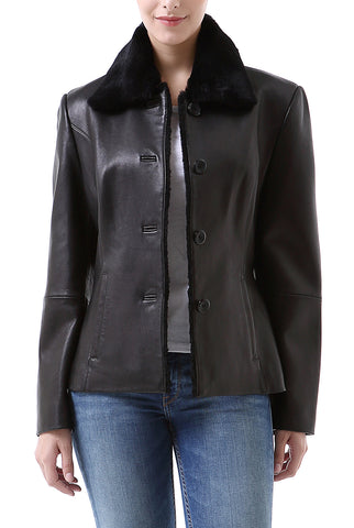 "BGSD Women's ""Kare"" New Zealand Lambskin Leather Jacket - Plus"