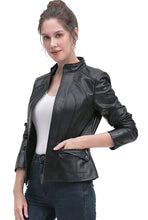 Load image into Gallery viewer, BGSD Women's New Zealand Lambskin Leather Jacket - Plus