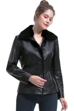 Load image into Gallery viewer, BGSD Women's New Zealand Lambskin Leather Jacket - Plus Short