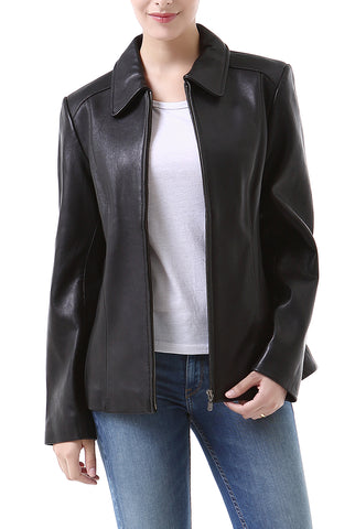 "BGSD Women's ""Miranda"" New Zealand Lambskin Leather Jacket - Plus Short"
