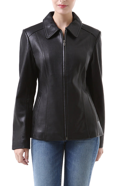 "BGSD Women's ""Miranda"" New Zealand Lambskin Leather Jacket - Short"
