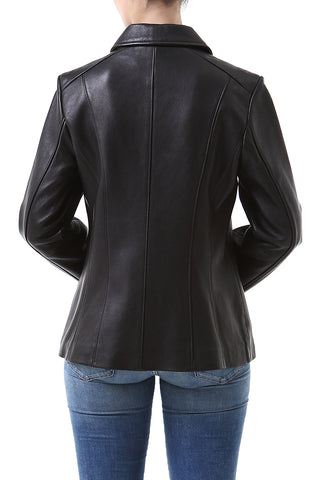 "BGSD Women's ""Miranda"" New Zealand Lambskin Leather Jacket - Petite"