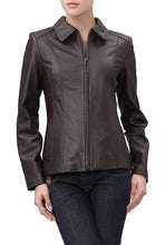 Load image into Gallery viewer, bgsd womens miranda new zealand lambskin leather jacket petite 1