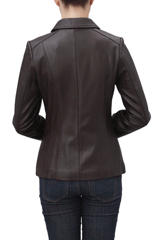 bgsd womens miranda new zealand lambskin leather jacket petite 1