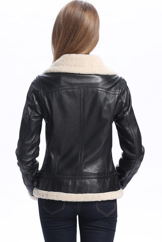 "BGSD Women's ""Brittany"" New Zealand Lambskin Leather Jacket"