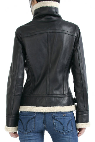 "BGSD Women's ""Brittany"" New Zealand Lambskin Leather Jacket - Plus"