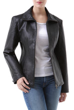 "Load image into Gallery viewer, BGSD Women's ""Tina"" Lambskin Leather Scuba Jacket - Short"