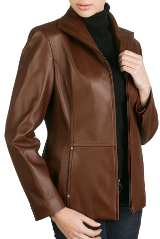 bgsd womens wing collar lambskin leather scuba jacket plus 2
