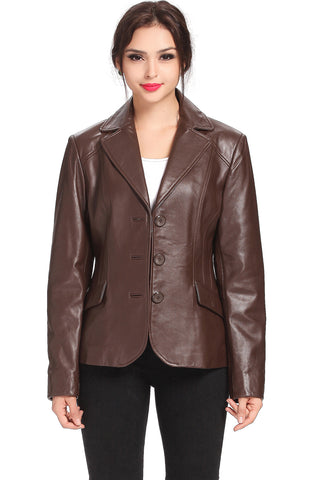 bgsd womens tammy new zealand lambskin leather blazer 1