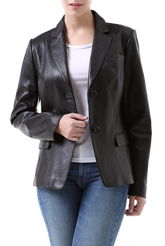 bgsd womens kristina new zealand lambskin leather blazer
