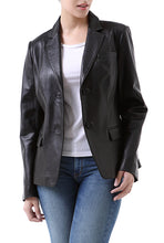 Load image into Gallery viewer, bgsd womens kristina new zealand lambskin leather blazer