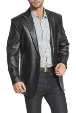 Load image into Gallery viewer, bgsd mens john two button new zealand lambskin leather blazer short