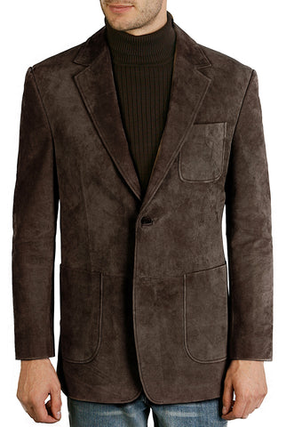 bgsd mens calvin two button suede leather blazer 1