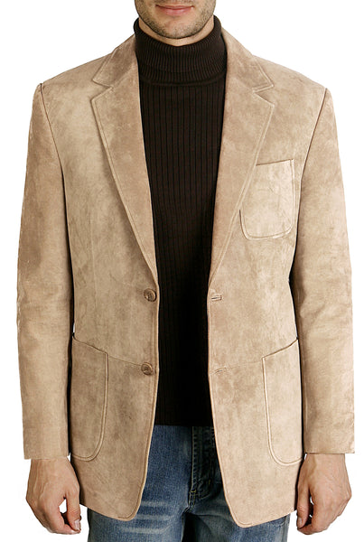 bgsd mens calvin two button suede leather blazer 2