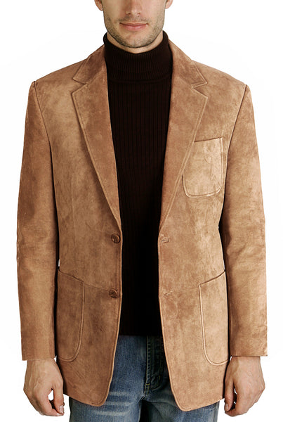 bgsd mens calvin two button suede leather blazer 3