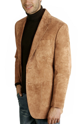 bgsd mens calvin two button suede leather blazer tall 1