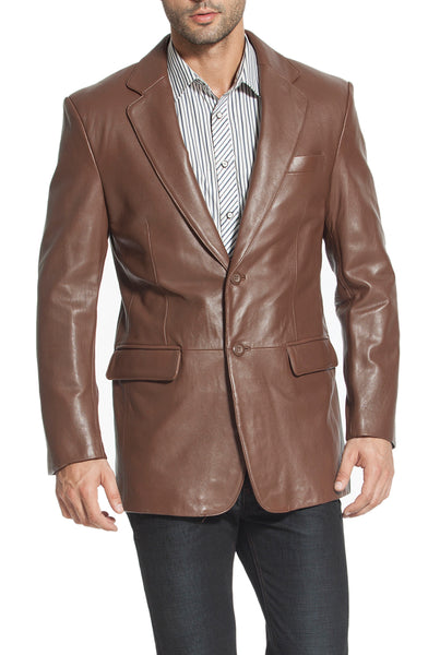 bgsd mens richard classic two button new zealand lambskin leather blazer big 2