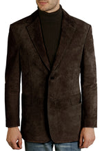 "Load image into Gallery viewer, BGSD Men's ""Cliff"" Classic Two-Button Suede Leather Blazer - Big & Tall"