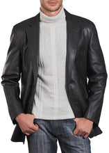 Load image into Gallery viewer, bgsd mens grant two button new zealand lambskin leather blazer big tall