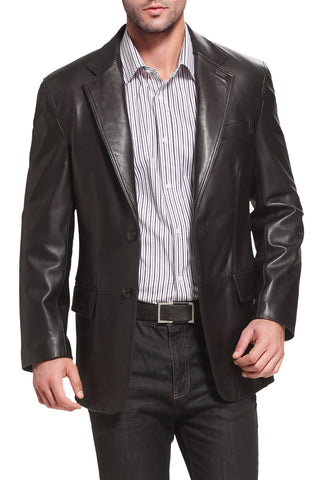 bgsd mens grant two button new zealand lambskin leather blazer big