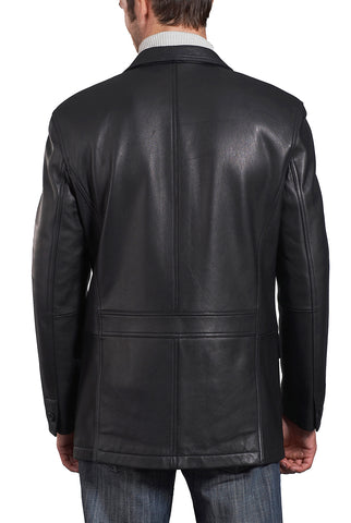 bgsd mens grant two button new zealand lambskin leather blazer big tall