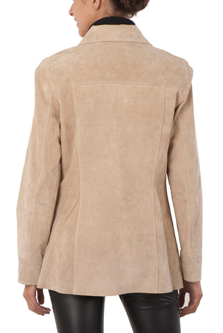 "BGSD Women's ""Anna"" Suede Leather Car Coat"