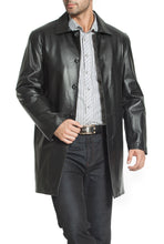 Load image into Gallery viewer, bgsd mens peter three quarter leather coat