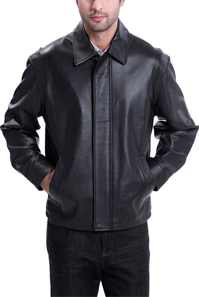 bgsd mens new zealand lambskin leather hipster jacket