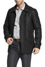 "Load image into Gallery viewer, BGSD Men's ""Hunter"" Lambskin Leather Coat - Short"