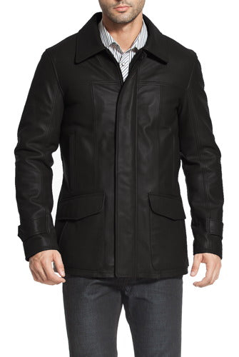"BGSD Men's ""Hunter"" Patch Pocket Lambskin Leather Coat"