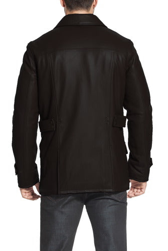 "BGSD Men's ""Hunter"" Patch Pocket Lambskin Leather Coat - Short"