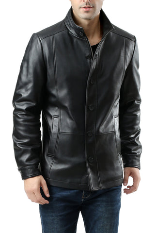 "BGSD Men's ""Brady"" New Zealand Lambskin Leather City Jacket"