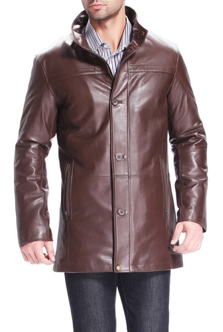 bgsd mens chad new zealand lambskin leather car coat 2