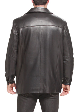 "BGSD Men's ""Samuel"" New Zealand Lambskin Leather Car Coat - Big"