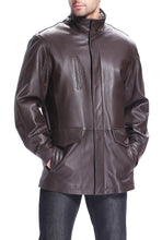 Load image into Gallery viewer, bgsd mens bryson zealand lambskin leather coat 2