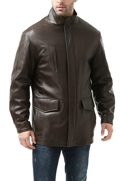 bgsd mens bryson zealand lambskin leather coat 1