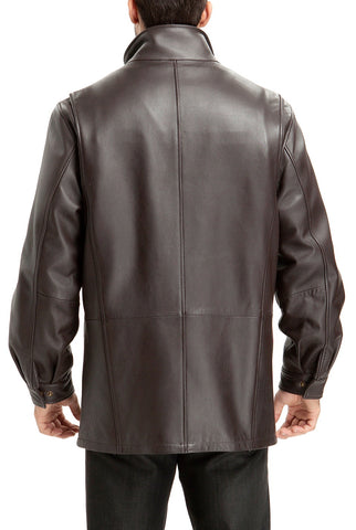 bgsd mens bryson zealand lambskin leather coat tall